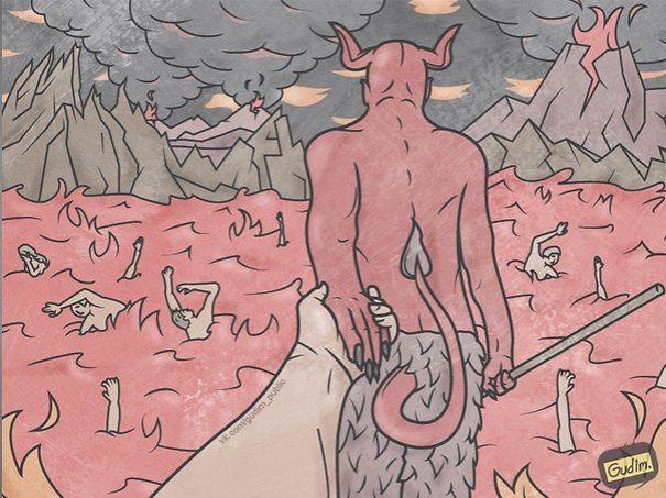 Саркастические иллюстрации Антона Гудима