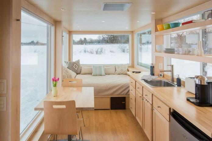 Уютный мобильный дом, площадью всего 15 кв. метров