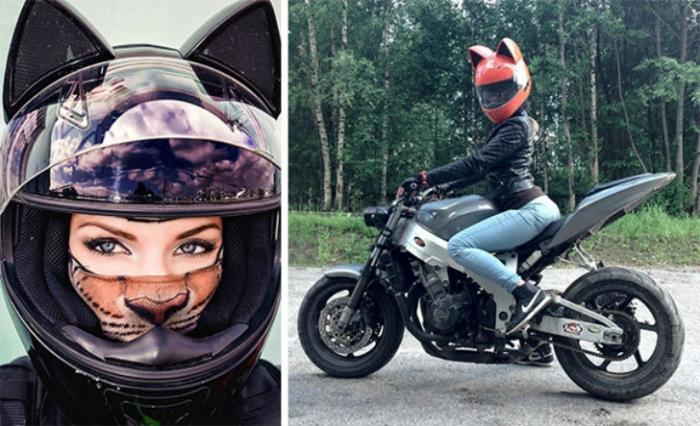 Крутой шлем женщины-кошки