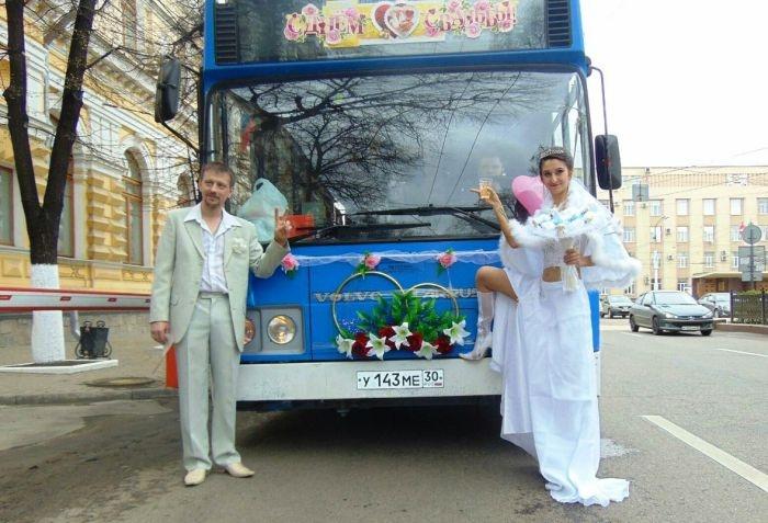 В Воронеже водитель автобуса сыграла свою свадьбу прямо в автобусе
