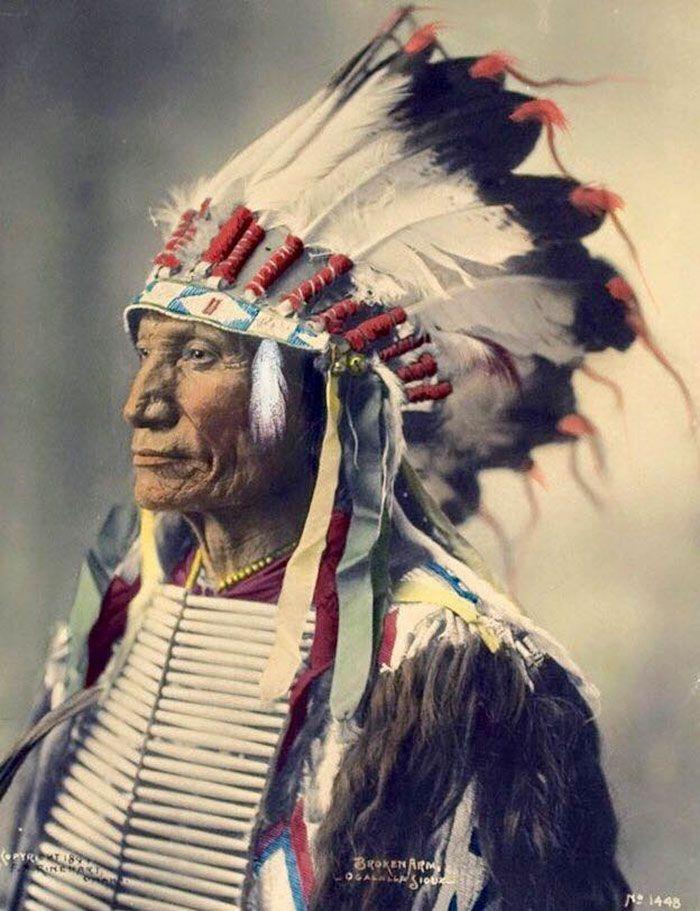 Коренные народы Северной Америки на редких цветных фотографиях