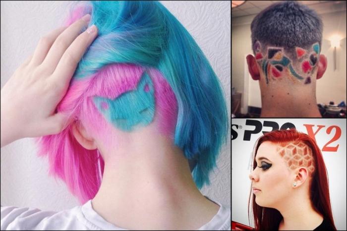 Новый модный тренд социальных сетей hair tatoo