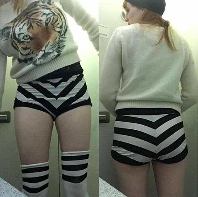 Исполнительницу бурлеска заставили натянуть шорты поприличнее