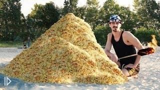 Что будет, если поджечь гору чипсов