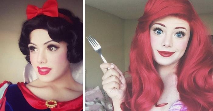 21-летний визажист, превращающий себя в диснеевских принцесс