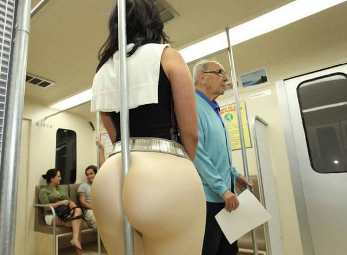 Увлекательные кадры из общественного транспорта