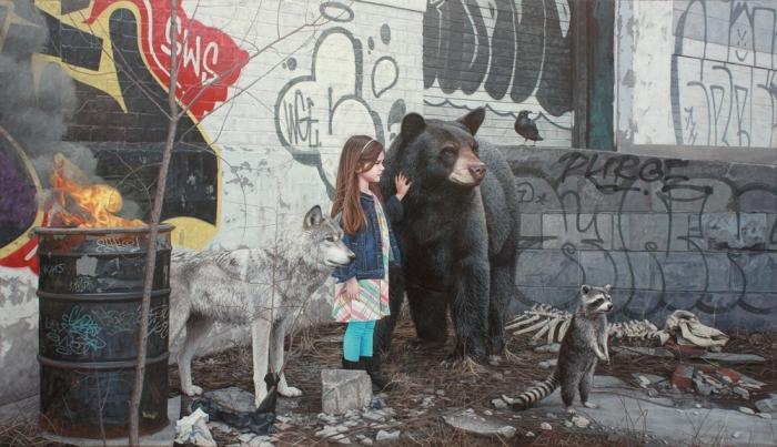 Трогательные рисунки детей и животных от Кевина Питерсона