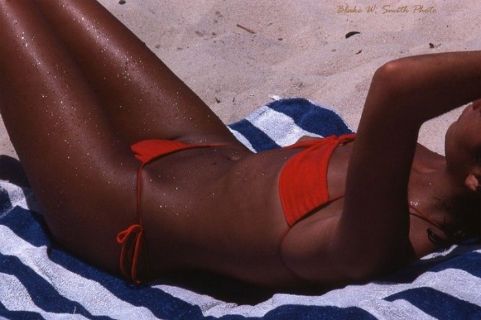 Загорелые бразильянки на пляжах Рио-де-Жанейро в 70-х годах