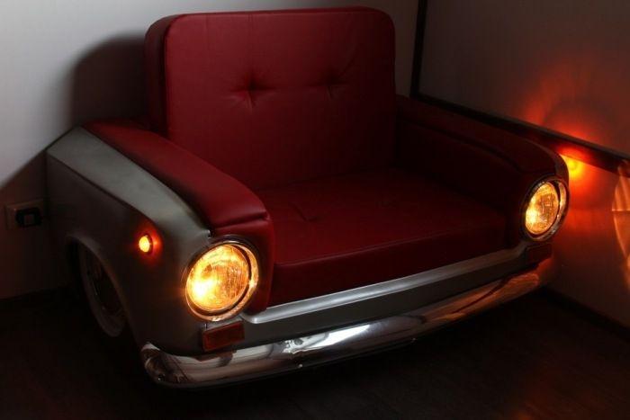 Прикольное кресло из деталей ВАЗ-2101