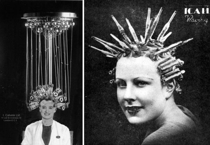 Жуткие завивочные машины начала прошлого века