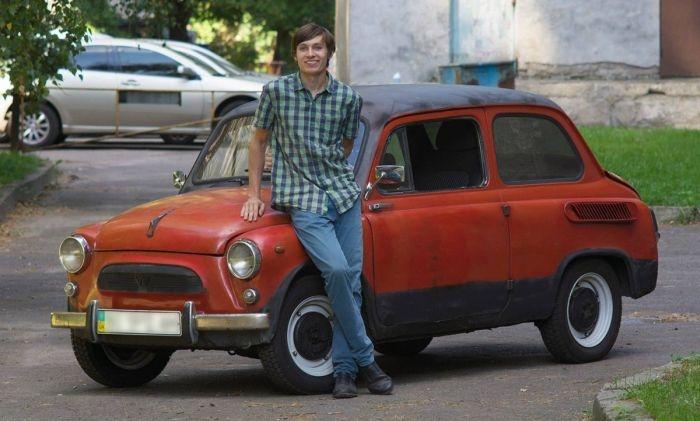 Киевский студент построил электромобиль на базе старого «Запорожца»