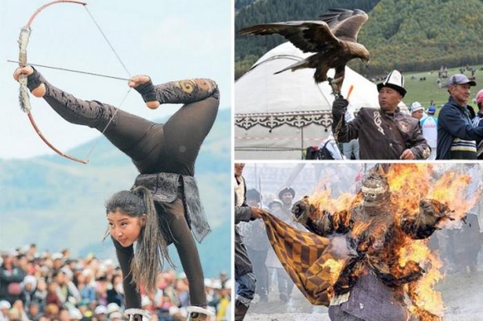 Церемония открытия Всемирных игр кочевников в Кыргызстане