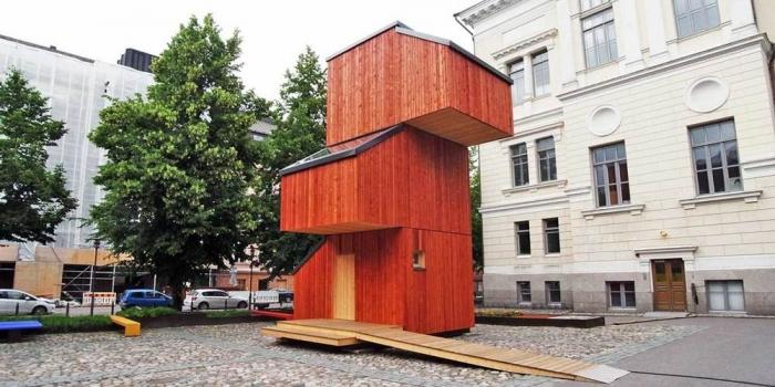 Прототип временного жилища для бездомных