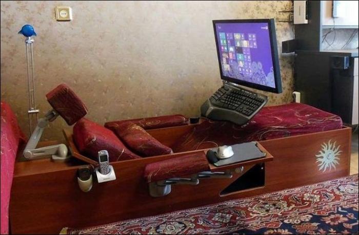 Самодельный компьютерный диван