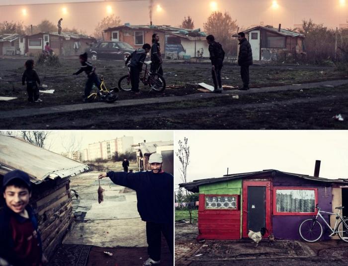 Жизнь румынских цыган на польской границе