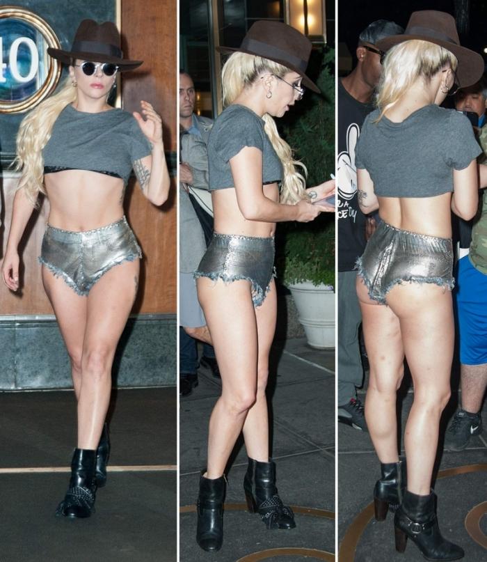 Леди Гага в коротеньких шортиках