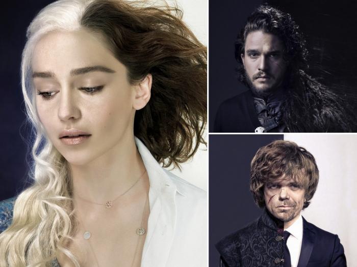 Дизайнер совместил фото актеров из «Игры престолов» в кино и повседневной ж ...
