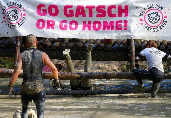 Забег по грязи в Австрии