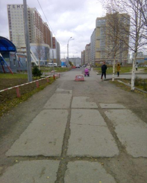 В Санкт-Петербурге провели «ремонт» пешеходной дорожи с помощью фотошопа