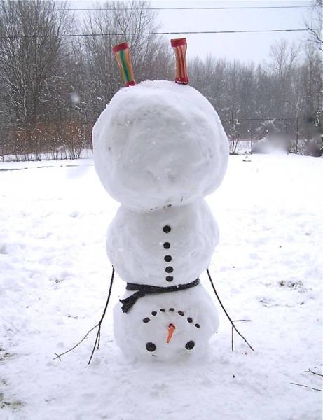 Оригинальные снеговики своими руками фото