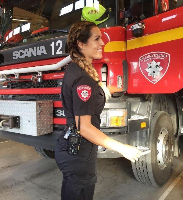 Гунн Нартен - самая привлекательная женщина-пожарный