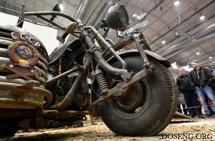 Немцы построили самый тяжелый в мире мотоцикл с двигателем от советского та ...