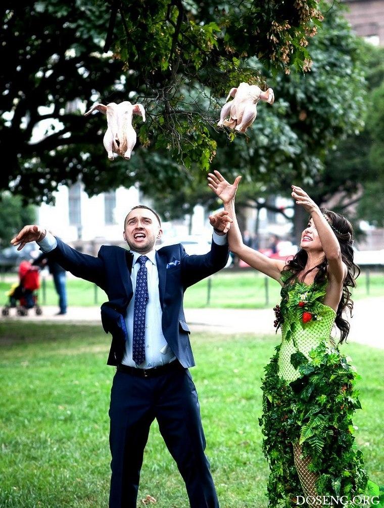 Трех, смешная фото со свадьбы