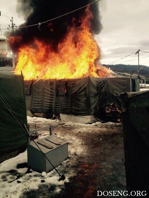 Дневальный решил растопить печь