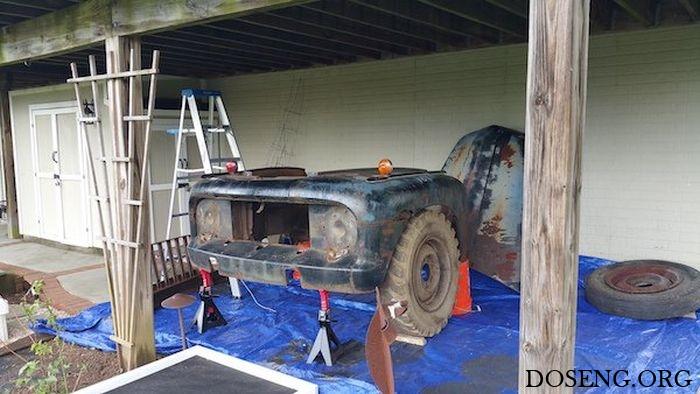 Домашняя барная стойка из деталей пикапа Ford F-3