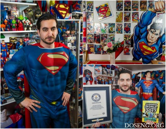 Британский фанат Супермена попал в «Книгу рекордов Гиннесса» благодаря внуш ...