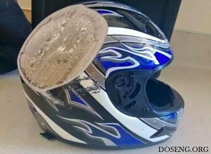 Почему так необходим шлем мотоциклисту или велосипедисту