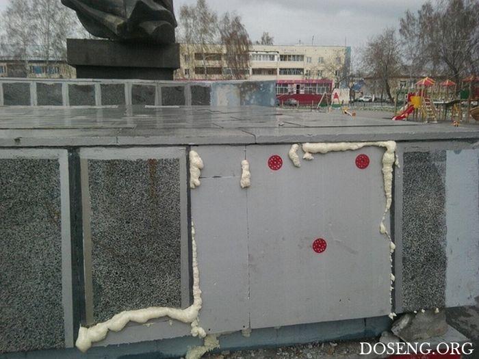В Кемеровской области местные власти отремонтировали мемориал ко Дню Победы