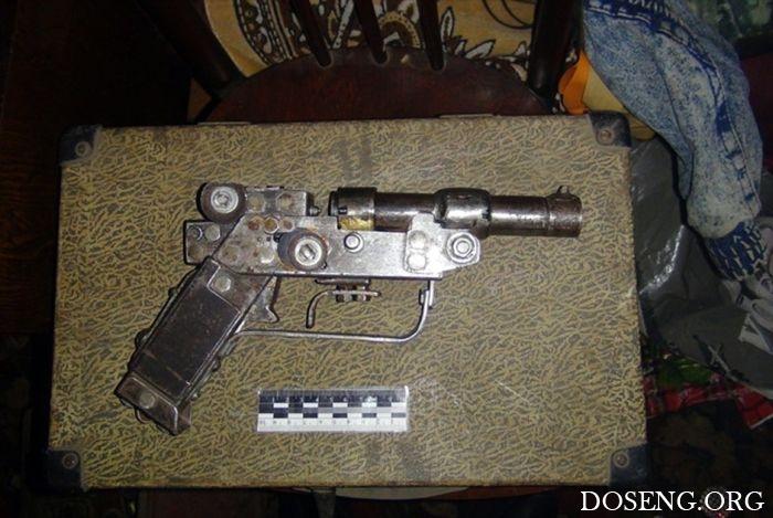 Самодельное огнестрельное оружие, изъятое полицией