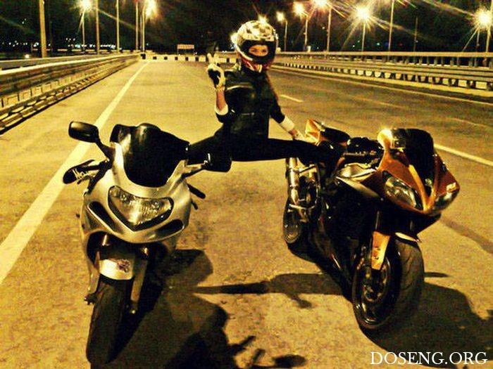 Девушки, которые любят мотоциклы