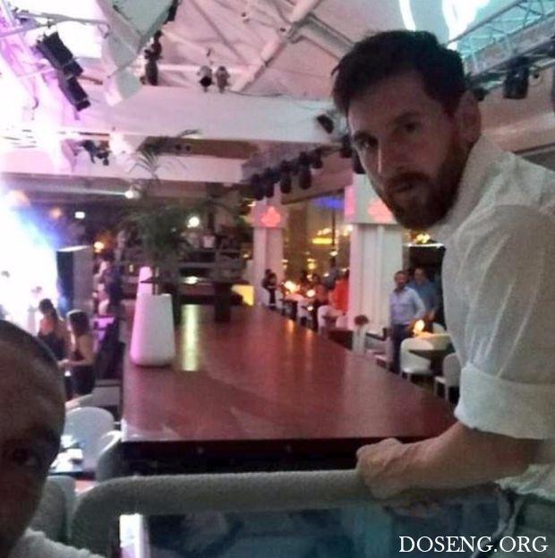 Лионель Месси отдохнул в ресторане Ибицы