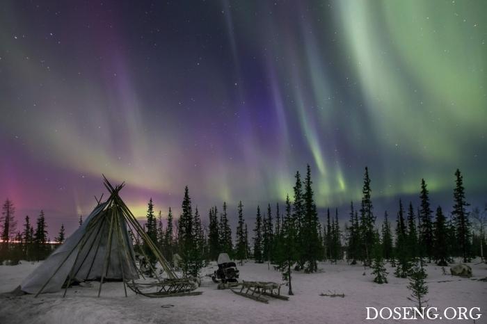 Красивые фотографии с северным сиянием