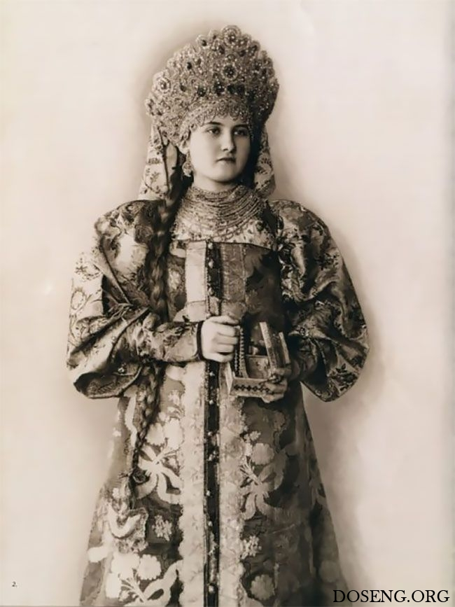 Редкие фото русских красавиц в костюмах XIX века
