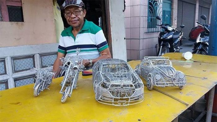 Удвительные модели транспортных средств из проволоки