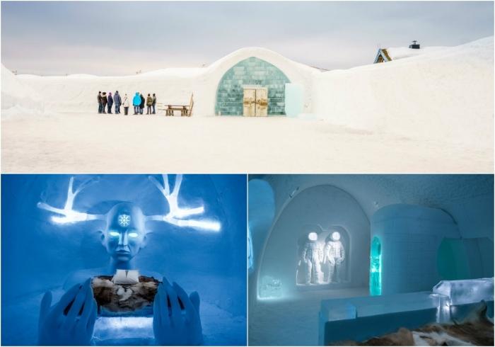 Зимний дворец ледяной отель в Швеции открывает свои двери