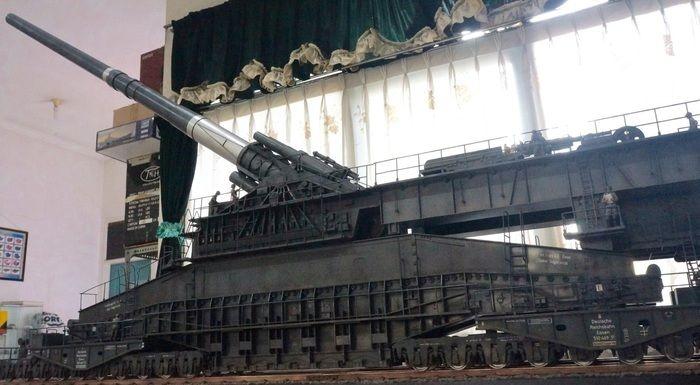 Диорама тяжелой немецкой пушки «Дора»
