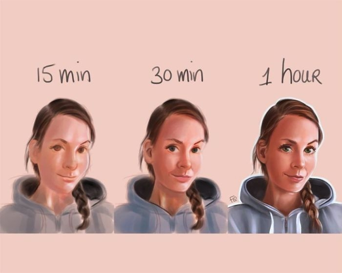 Практика и время помогают художнику