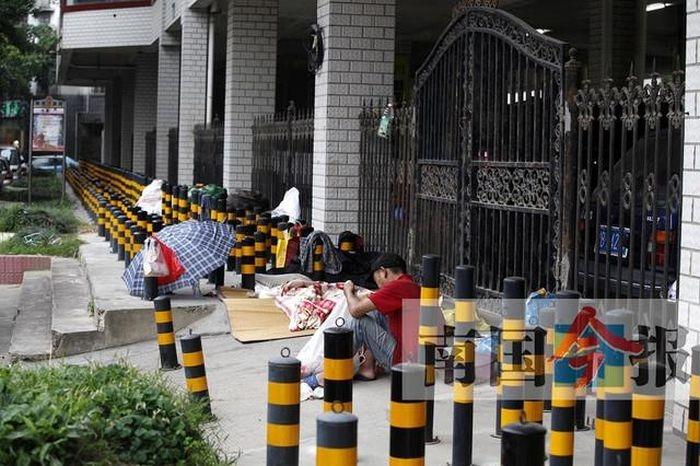 Защита территории от бездомных в Китае