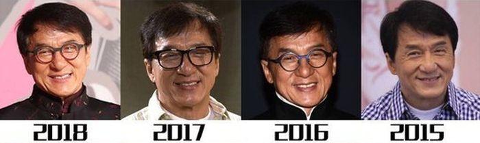 Как менялся с годами Джеки Чан