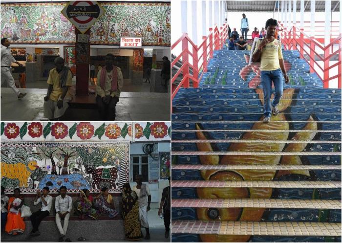 Художники преобразили самую грязную жд станцию в Индии