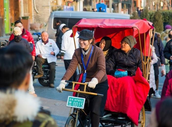 Самая милая водительница велорикши в Пекине