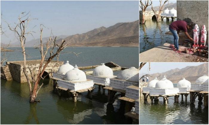 После сильной засухи в Индии обнаружили древний храм