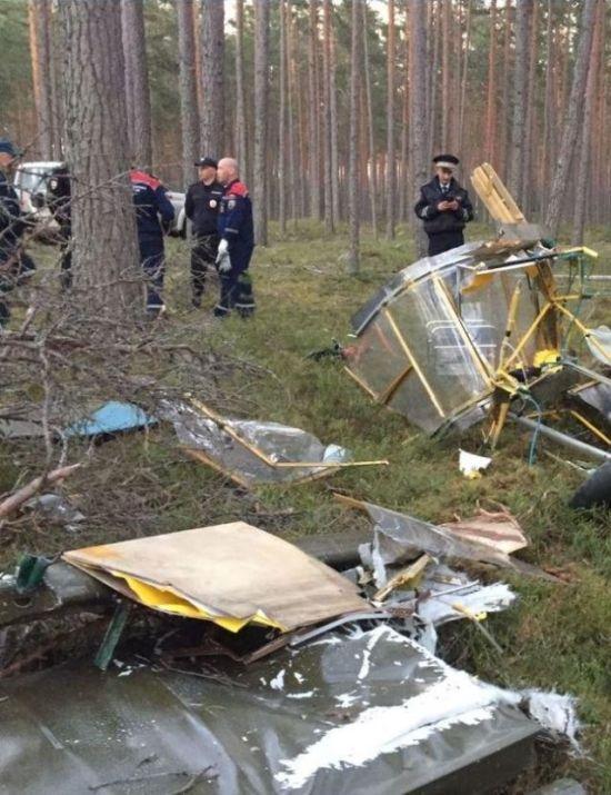 В Ленобласти разбился самодельный самолет