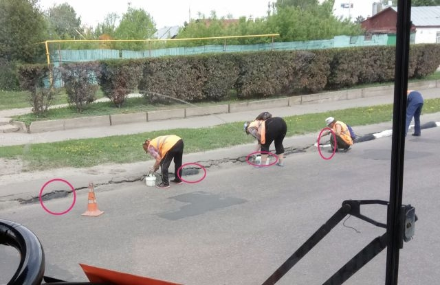 Ударная работа тамбовских дорожников