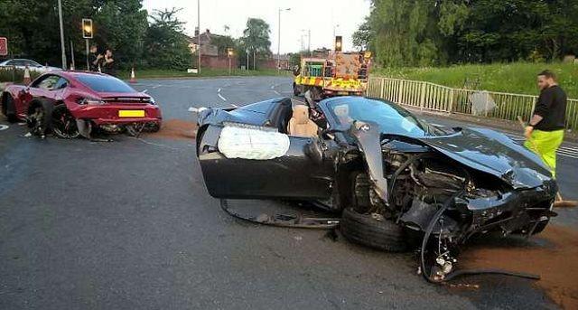 В Великобритании участники дорогой аварии сбежали с места ДТП