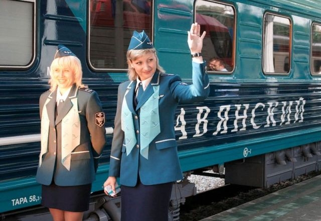 Сотрудницы железной дороги